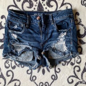 American eagle distressed shorts size 2